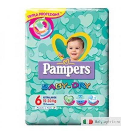 Pampers Baby Dry Down Xl 15pz