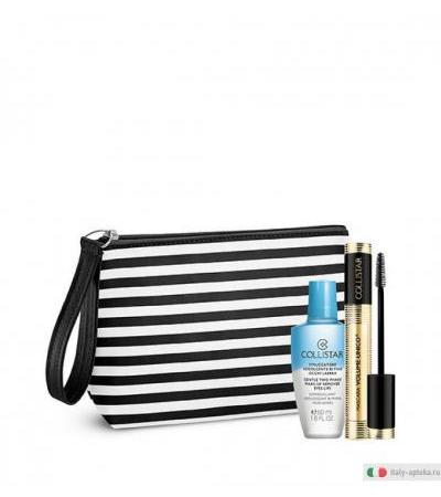 Collistar Kit Mascara Volume Unico in regalo Struccatore Bifase 50 ml + Pochette Fashion