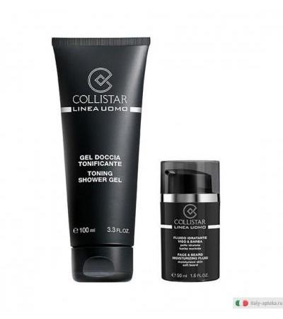 Collistar Uomo Fluido Idratante Viso e Barba 50ml +IN REGALO Gel Doccia Tonificante 100ml