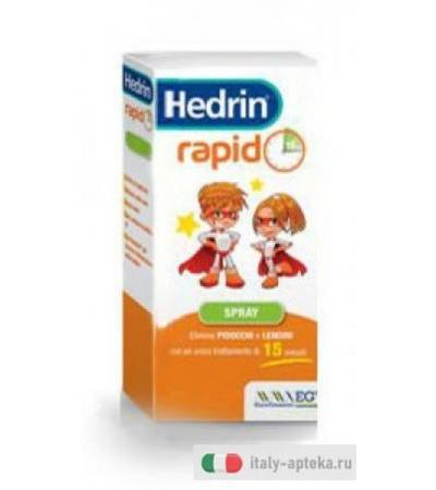 Hedrin Rapid Spray elimina pidocchi e lendini 60ml