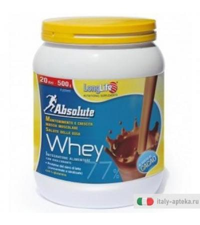 Longlife Absolute Whey cacao fonte di proteine 500g