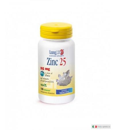 Longlife Zinc Catalizzatore Metabolico 25mg 100 compresse