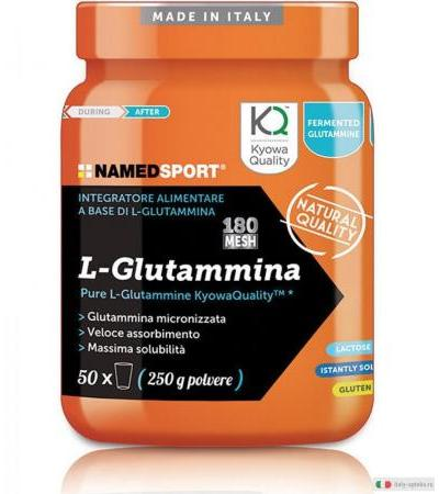 Named L-Glutammina integratore in polvere 250g
