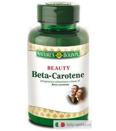 Nature's Bounty Beauty Beta-Carotene 100 perle