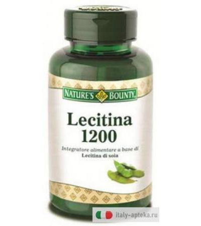 Nature's Bounty Lecitina 1200 100 perle