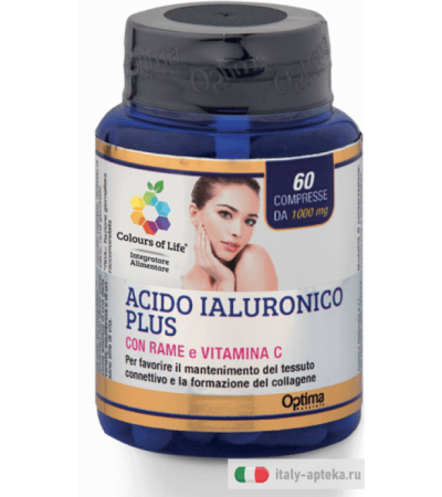 Optima Colours of Life Acido Ialuronico Plus con Rame e Vitamina C 60 compresse