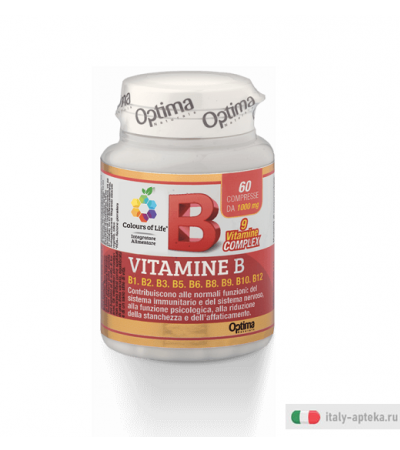 Optima Colours of Life Vitamina B integratore 60 compresse