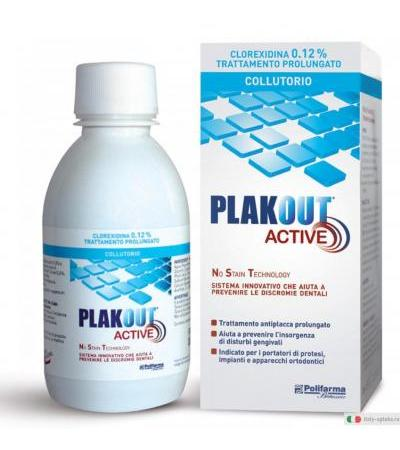 Plak Out Active Collutorio 0,12% trattamento prolungato aroma menta 200ml