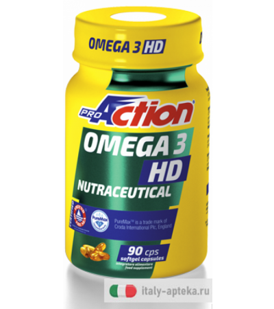 ProAction Omega 3 HD Nutraceutical 90 capsule softgel