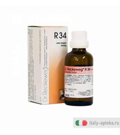 Reckeweg R34 Medicinale Omeopatico 22ml