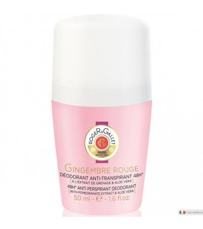 Roger&Gallet Gingembre Rouge Deodorante anti-traspirante 48h roll-on 50ml