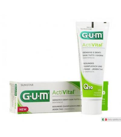 Sunstar Gum ActiVital Q10 dentifricio 75ml