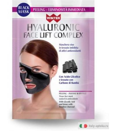 WINTER Hyaluronic Face Lift Complex BLACK MASK Peeling luminosità immeditata 25 ml