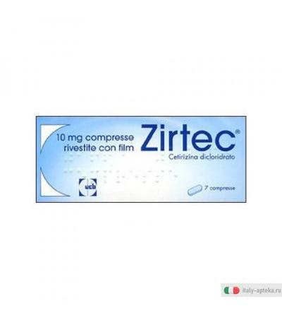 Zirtec Antistaminico Rinite Allergica Stagionale 10 Mg 7 Compresse Rivestite Con Film