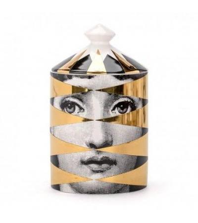 Candela Fornasetti Gold Losanghe in porcellana