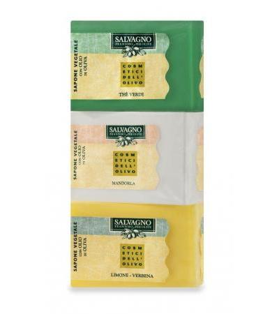 SALVAGNO VEGETABLE SOAP WITH EXTRA VIRGIN OLIVE OIL - 3 pieces gr. 100